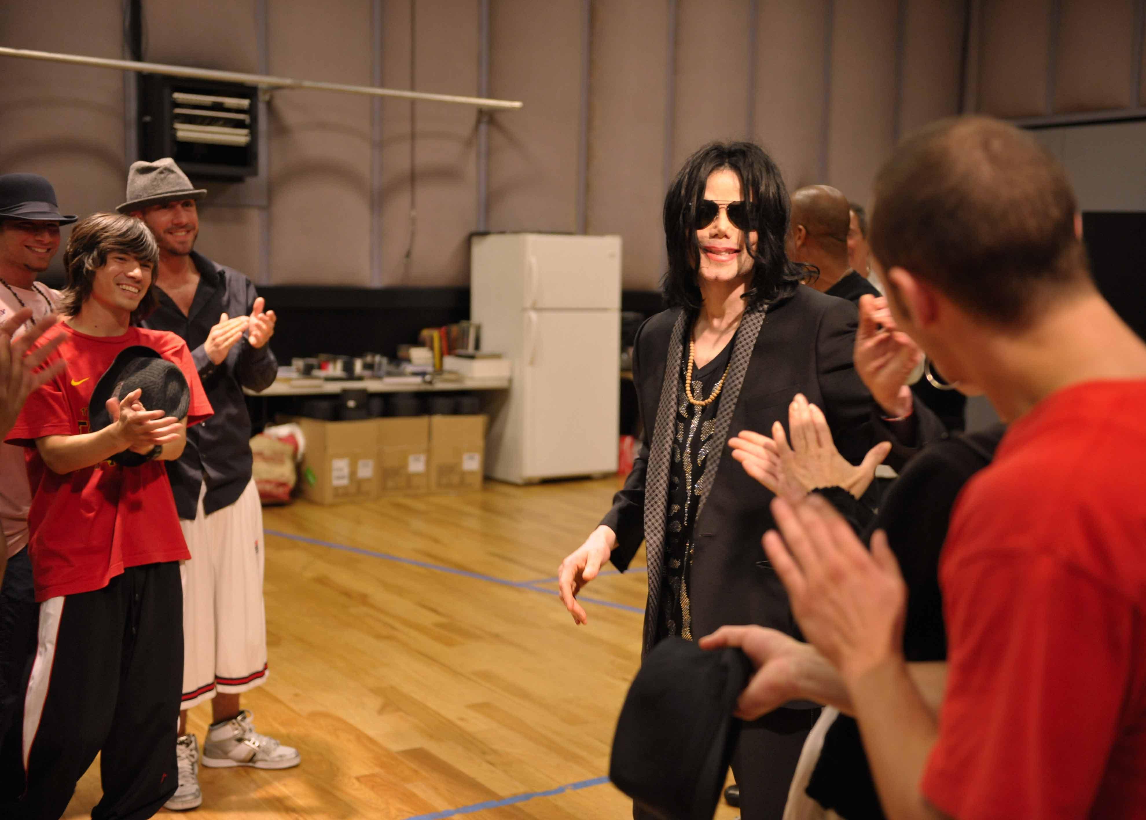 Майкл Джексон во время репетиции в Лос-Анджелесе для своего
